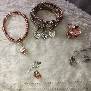 Heart ❤️ themed jewelry bundle